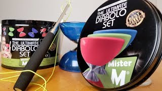 Mister M Diabolo Set Unboxing and Review.  Chinese yoyo unboxing