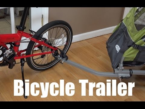 Install Bicycle Trailer On Folding Bike Youtube