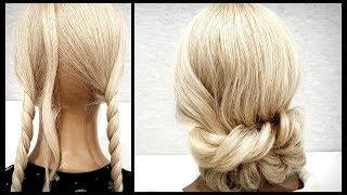 Быстрая Объемная прическа из резинок.Подробное видео!Fast Volumetric hairstyle made of elastic bands