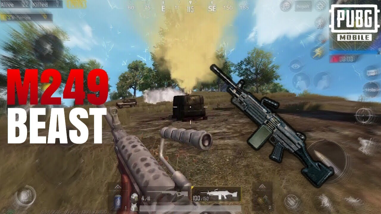 M249 IS A BEAST!   FPP Solo VS Squad   PUBG Mobile - YouTube