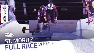 St. Moritz | BMW IBSF World Cup 2015/2016 - Women's Bobsleigh Heat 2 | IBSF Official