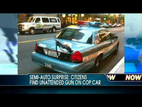 Citizens Find Assault Rifle Resting on Cop Car