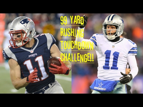WHO CAN GET A 99YD RUN FIRST?!? JULIAN EDELMAN VS COLE BEASLEY!! CATCH ME OUTSIDE HOWBADAH