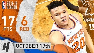 Kevin Knox Full Highlights Knicks vs Nets 2018.10.19 - 17 Points off the Bench!