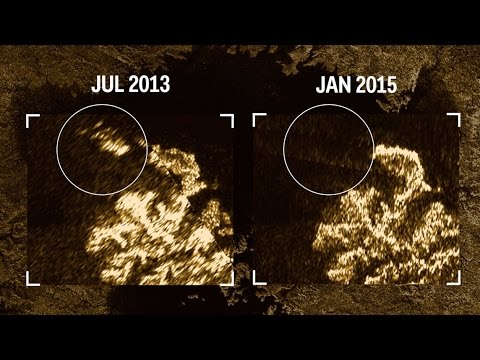 Disappearing magic island on Saturn's moon Titan