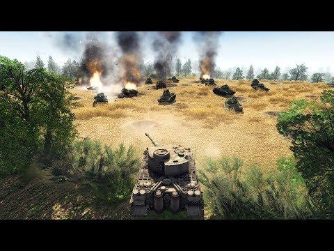 HUGE TRENCH DEFENSE CLEARED & CAPTURED, KURSK 1943   Men of War: Assault Squad 2 Gameplay