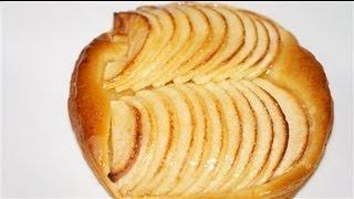 tarte fine au pomme facile ( CUISINERAPIDE)