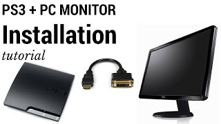 Connect PlayStation 3 (PS3) To Computer PC Monitor