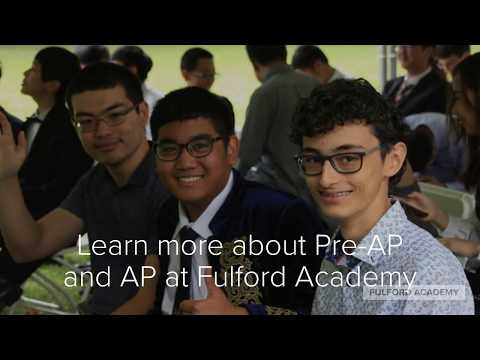 Advanced Placement at Fulford Academy