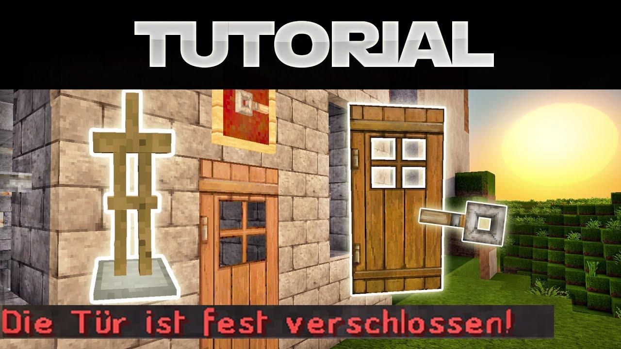 minecraft tÜr abschließen (sichern) - minecraft 1.8 tutorial