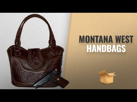 Our Favorites Montana West Handbags [2018]: Concealed Carry Tooled Handbag - Montana West - Leather