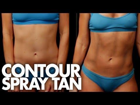 We Got Spray Tan Abs!  (Beauty Trippin)