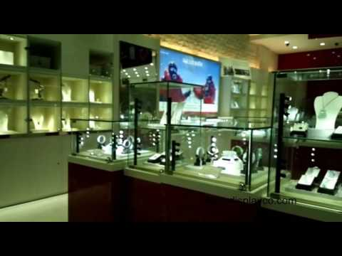 Custom Jewelry Store Fixtures Glass Cabinet Jewelry Kiosk Glass