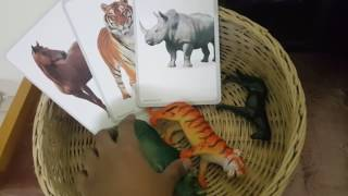 Montessori based animal theme shelf work for toddler -18months