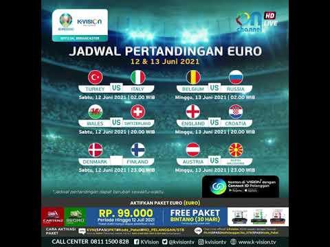 Jadwal Pertandingan EURO 2020/2021 Tanggal 12 & 13 Juni 2021
