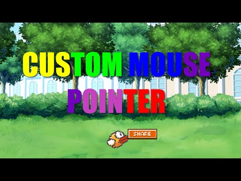 How to CUSTOMize a MOUSE POINTER in GDEVELOP | Flappy Bird