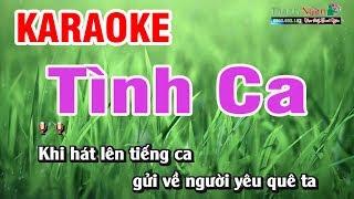 Tình Ca ( Hoàng Việt ) Karaoke - Nhạc Sống Thanh Ngân