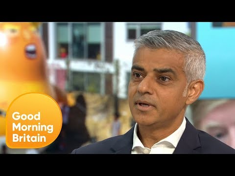 Sadiq Khan on Why He's Letting the 'Trump Baby' Balloon Fly at Protest | Good Morning Britain