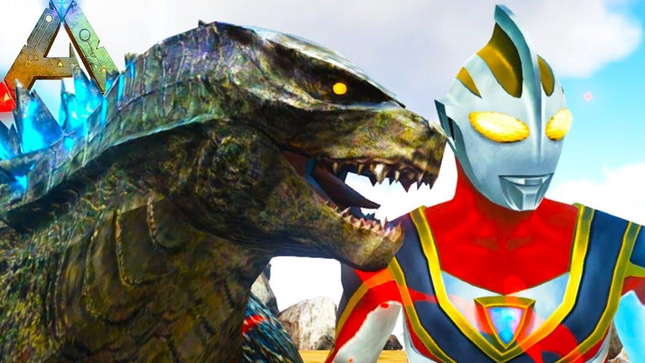 ULTRAMAN vs GODZILLA in Ark Survival Evolved!? Epic Kaiju ...  ULTRAMAN vs GOD...