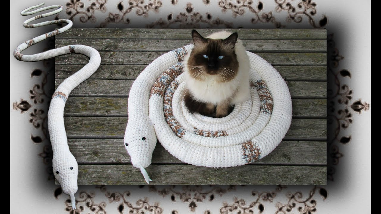 DIY 😻 Schlangen Schaukel für Katzen | Snake Swing for Cats - YouTube