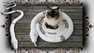 Diy 😻 Schlangen Schaukel Für Katzen Häkeln | Snake Swing For Cats