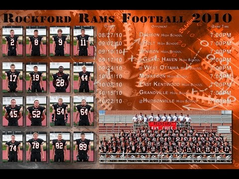 How to create a schedule poster andor add a roster YouTube – Football Roster Template