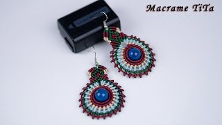 Macrame tutorial:  Macrame Earrings _ Colorful Circle Jewelry | Alternative Fashion Gift For Girls