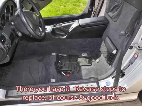 Mercedes SLK 230 Seat Removal