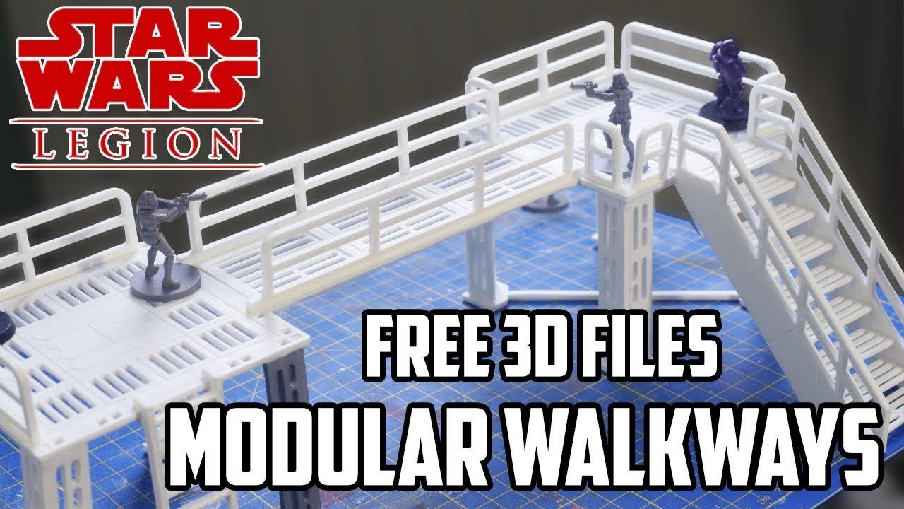 Star Wars Legion - Modular Walkways / Platforms - Free 3D Printable Files