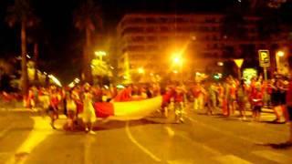 celebracion del mundial en la plaza del caballo -JEREZ-3