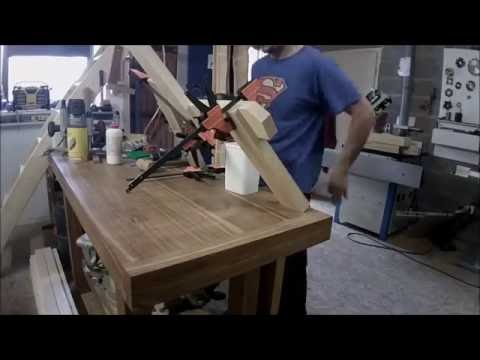 fabrication d 39 un banc ext rieur en pin building a pin bench youtube. Black Bedroom Furniture Sets. Home Design Ideas