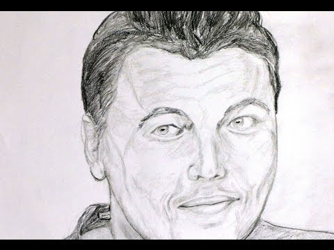 how to draw a face of an actor for beginners real easy
