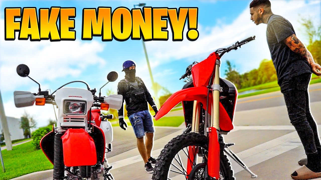 BUYING A DIRTBIKE WITH $8,000 IN FAKE CASH OFF CRAIGSLIST ! ( BAD IDEA ) | BRAAP VLOGS