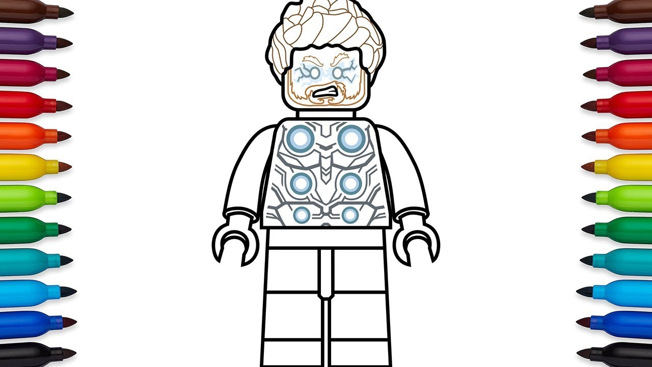 How to draw lego thor from marvels avengers infinity war