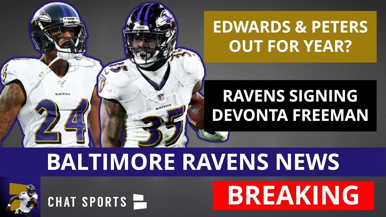 Ravens CB Marcus Peters, RB Gus Edwards injured in practice