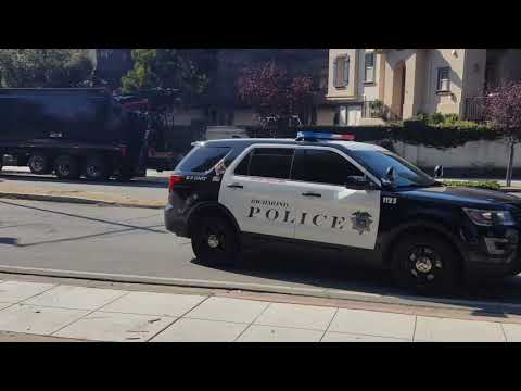 Copwatch - Richmond PD and San Pablo PD outside of Contra Costa College 10 29 2019