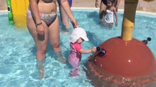 Elsie-Rose Playing in Sol Mirlos Tordos Kids Pool Palma Nova Majorca