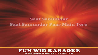 Saat Samundar Paar Karaoke | Club Version | Fun Wid Karaoke | DJ Lolly