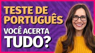 TESTE BÁSICO de PORTUGUÊS! Você consegue GABARITAR?    Prof. Letícia Góes