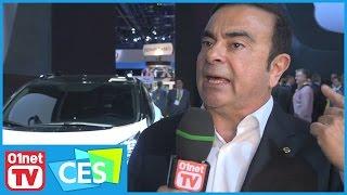 """Carlos Ghosn : """"L'avenir de l'industrie automobile c'est le 0 émission"""" - CES 2017"""