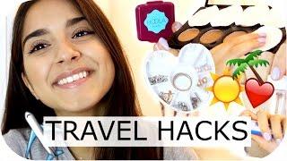 20 PRAKTISCHE TRAVEL HACKS - Schminke, Parfum, Schmuck, Kleidung - KOFFER PACKEN  | Sanny Kaur