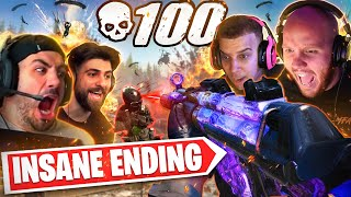 INSANE 100 KILL GAME IN WARZONE.. CRAZY ENDING! Ft. Nickmercs, Swagg & SypherPK