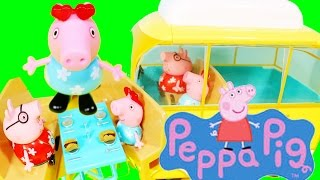 Play Doh Peppa Pig Holiday Campervan - Picnic With Daddy Autocaravana Camper Van Playdough