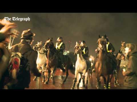 Million Mask 'march' erupts in violent police confrontation