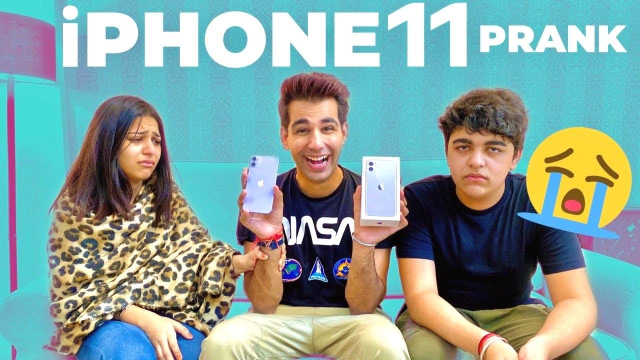 iPHONE 11 PRANK | Rimorav Vlogs - YouTube