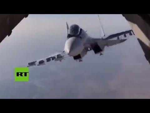Un Su-30 casi 'entra' en un Ilyushin en pleno vuelo