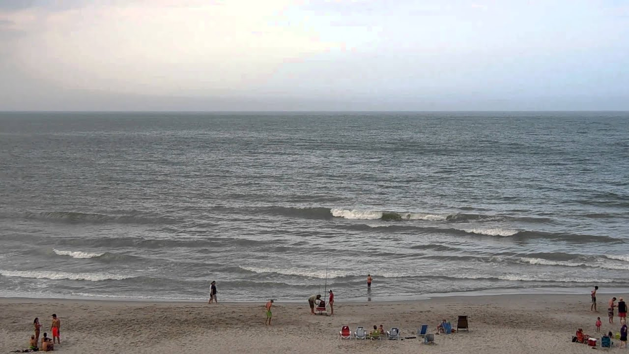 Myrtle Beach South Carolina Ocean Waves Shore