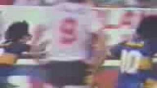 1er. Gol de Rinaldi a River (Boca 2-River 3 22-11-87)