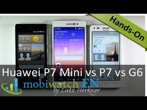Review Huawei Ascend P7 Mini: Compared to the P7 and G6