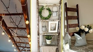 ❤DIY Farmhouse style Rustic Ladder Decor Ideas 2017-Home decor and organisation❤